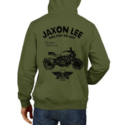 JL Ride Illustration For A Ducati Monster 1200S Motorbike Fan Hoodie