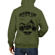 JL Ride Illustration For A Ducati Multistrada 1200 DVT 2015 Motorbike Fan Hoodie