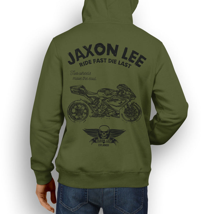 JL Ride Illustration For A MV Agusta F4 RC Motorbike Fan Hoodie