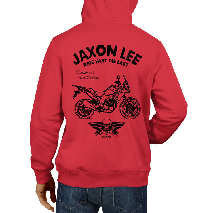 JL Ride Illustration For A Kawasaki Versys X300 Motorbike Fan Hoodie