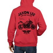 JL Ride Illustration For A Kawasaki Z900 Motorbike Fan Hoodie