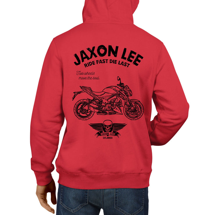 JL Ride Illustration For A Suzuki GSX S1000 Motorbike Fan Hoodie
