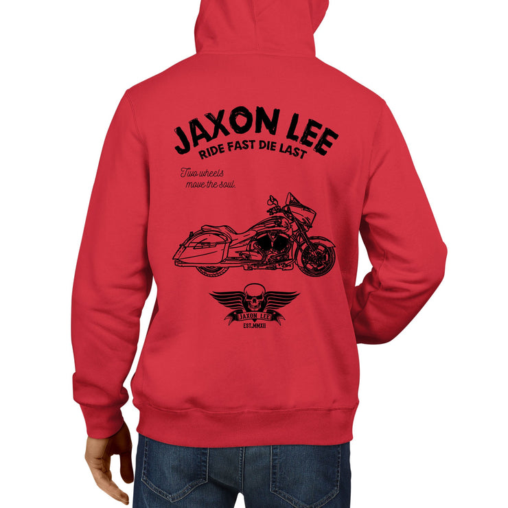JL Ride Illustration For A Victory Cross Country Motorbike Fan Hoodie