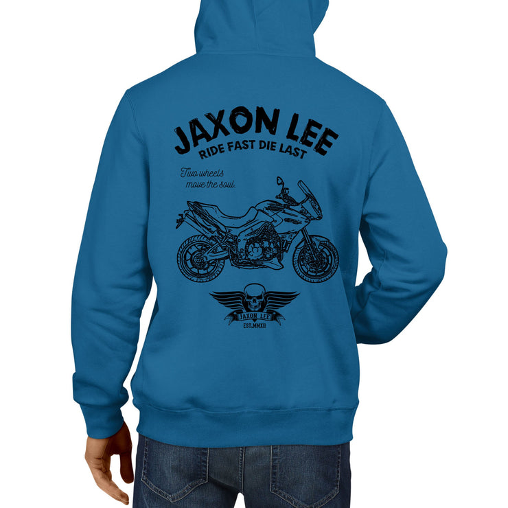 JL Ride Illustration For A Triumph Tiger Motorbike Fan Hoodie