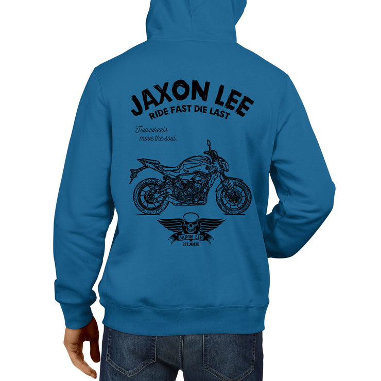 JL Ride Illustration For A Yamaha MT07 Motorbike Fan Hoodie