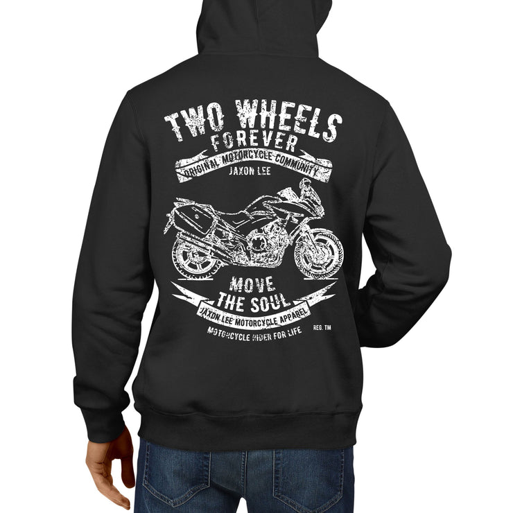 JL Soul Illustration For A Honda CBF1000 Motorbike Fan Hoodie