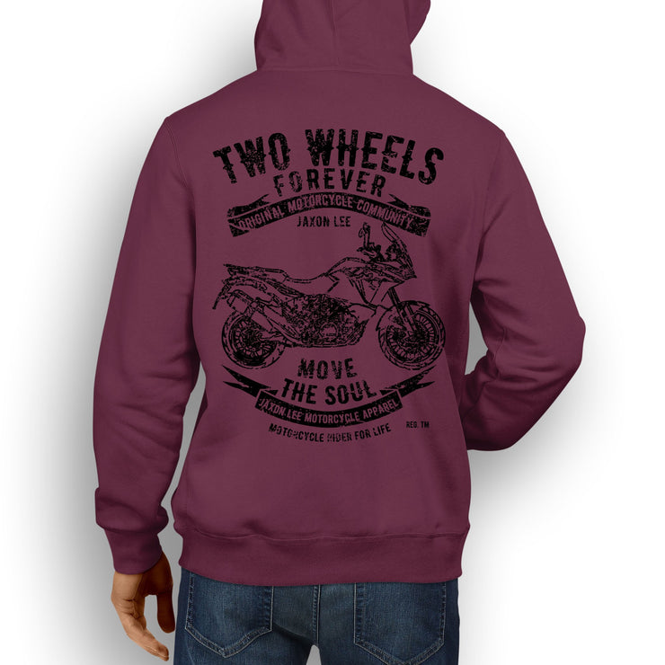JL Soul illustration for a KTM 1190 Adventure Motorbike fan Hoodie