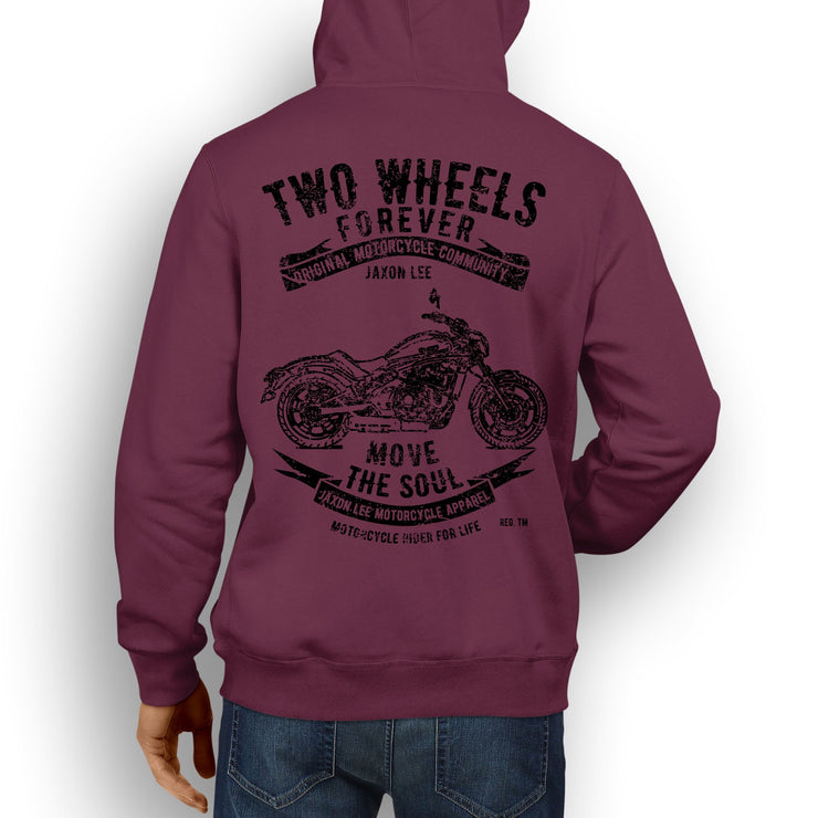 JL Soul Illustration For A Kawasaki Vulcan S Motorbike Fan Hoodie