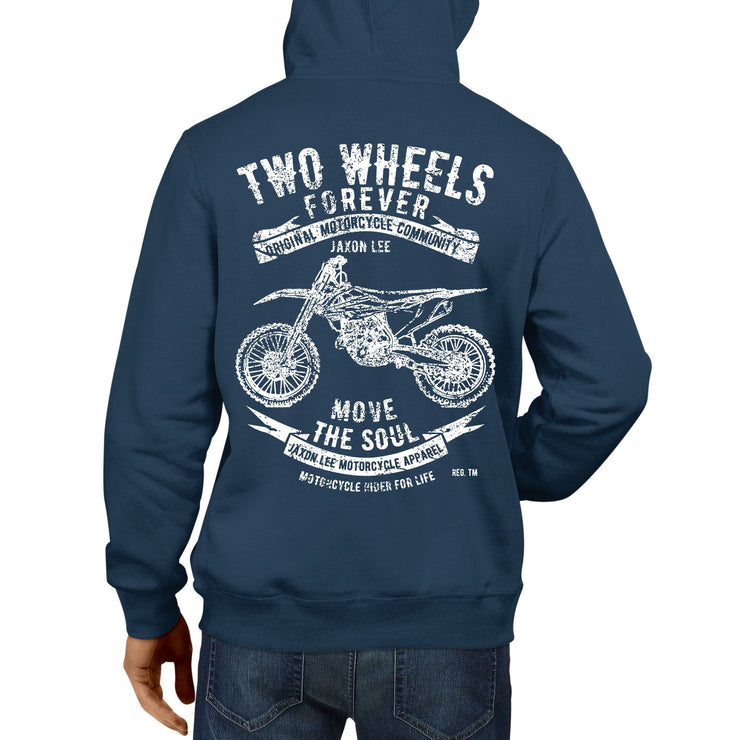 JL Soul illustration for a KTM 350 SX F Motorbike fan Hoodie