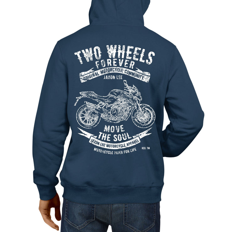 JL Soul Illustration For A MV Agusta Brutale 1090 2016 Motorbike Fan Hoodie