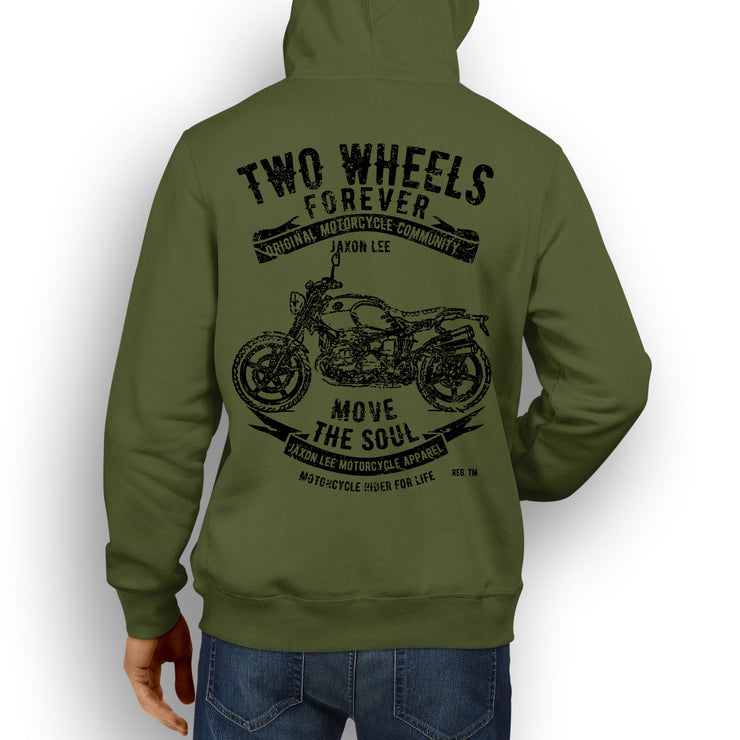 JL Soul Illustration For A BMW RNineT Scrambler 2016 Motorbike Fan Hoodie