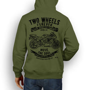 JL Soul Illustration For A Honda RC51 RVT 1000 Motorbike Fan Hoodie
