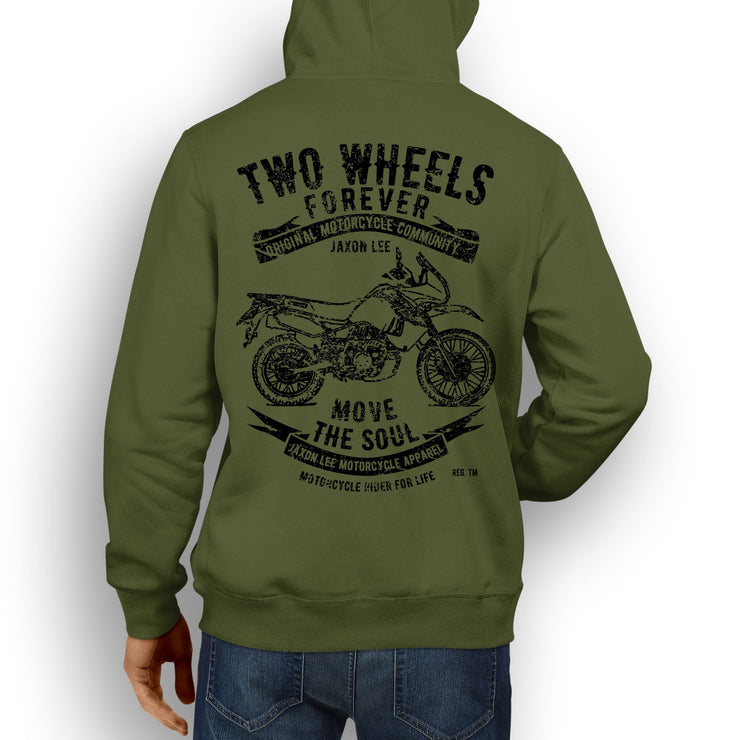 JL Soul Illustration For A Kawasaki KLR650 Motorbike Fan Hoodie