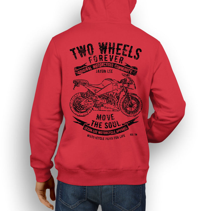 JL Soul Illustration For A Buell Firebolt XB12R 2010 Motorbike Fan Hoodie