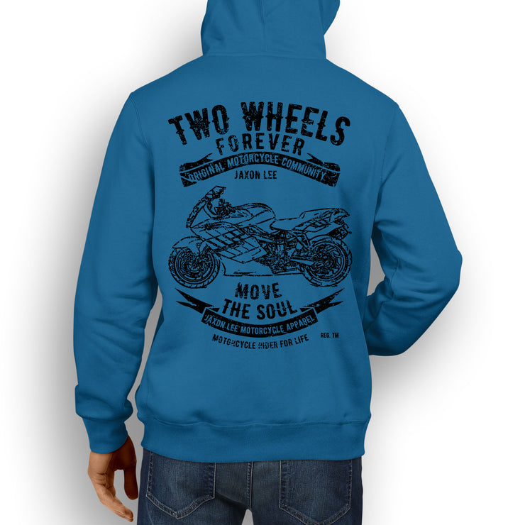 JL Soul Illustration For A BMW K1200S Motorbike Fan Hoodie