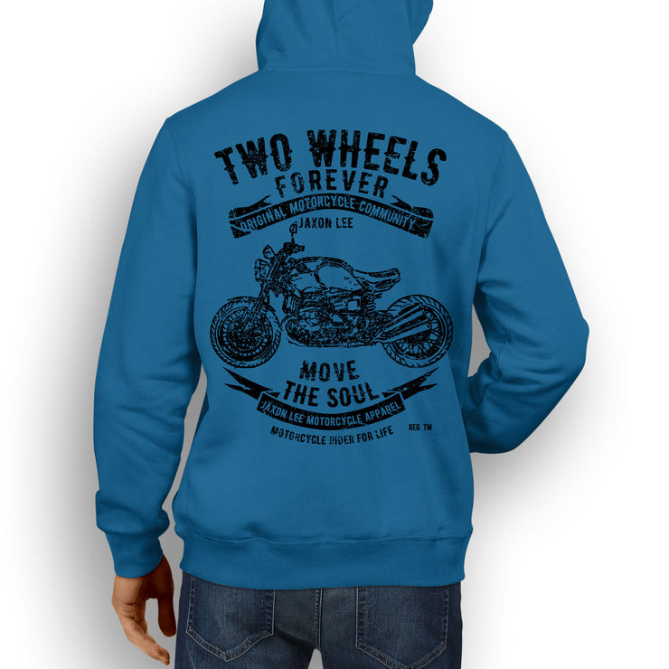 JL Soul Illustration For A BMW RNineT 2016 Motorbike Fan Hoodie