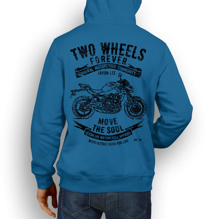 JL Soul Illustration For A Kawasaki Z650 Motorbike Fan Hoodie
