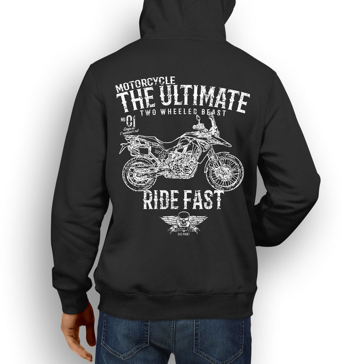 JL Ultimate Illustration For A BMW F800GS Adventure Motorbike Fan Hoodie