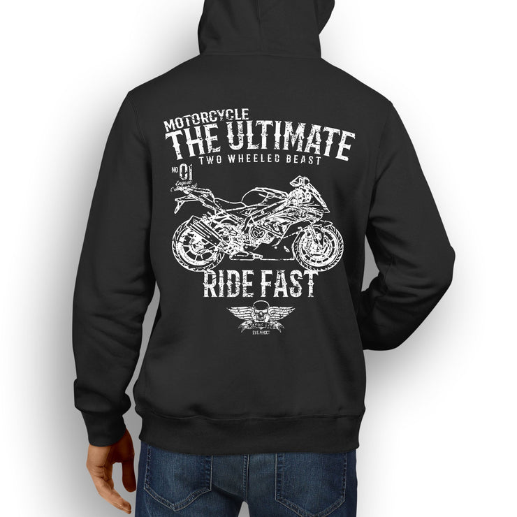 JL Ultimate Illustration For A BMW S1000RR 2017 Motorbike Fan Hoodie