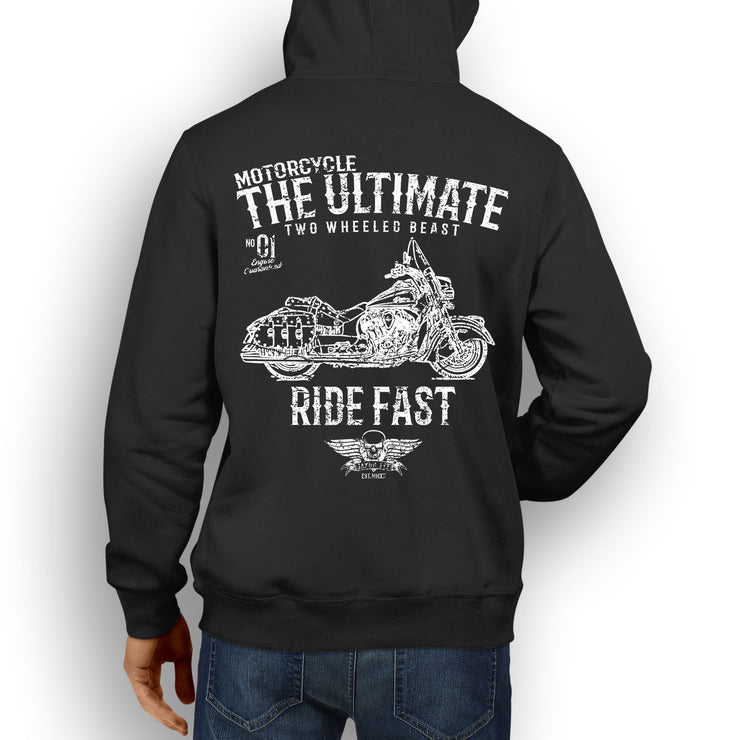 JL Ultimate Illustration For A Indian Chief Vintage Motorbike Fan Hoodie