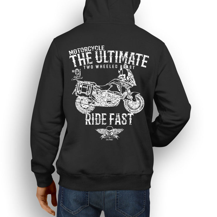 JL Ultimate illustration for a KTM 1290 Super Adventure T Motorbike fan Hoodie