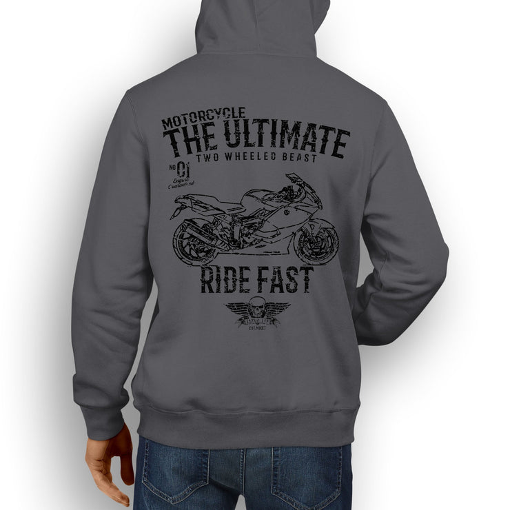 JL Ultimate Illustration For A BMW K1300S Motorbike Fan Hoodie