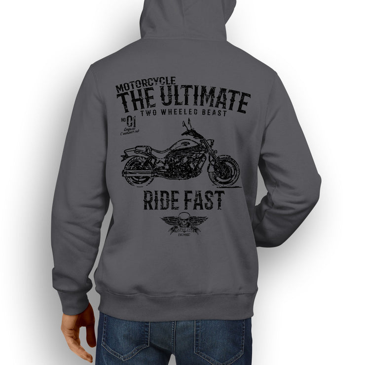 JL Ultimate Illustration For A Hyosung GV650 Motorbike Fan Hoodie
