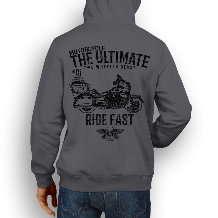 JL Ultimate Illustration For A Indian Roadmaster Motorbike Fan Hoodie