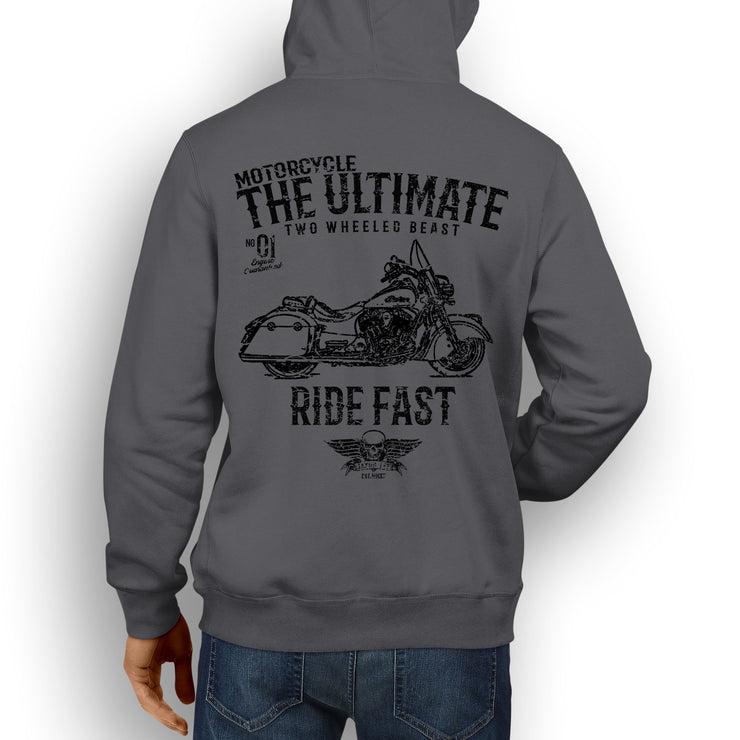 JL Ultimate Illustration For A Indian Springfield Motorbike Fan Hoodie