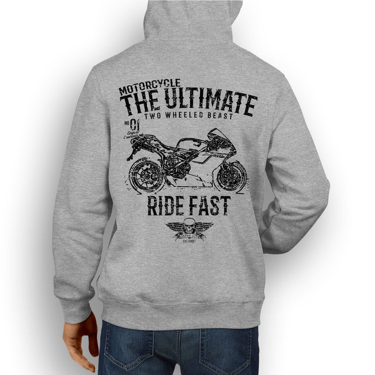 JL Ultimate Illustration For A Ducati 1098S Motorbike Fan Hoodie