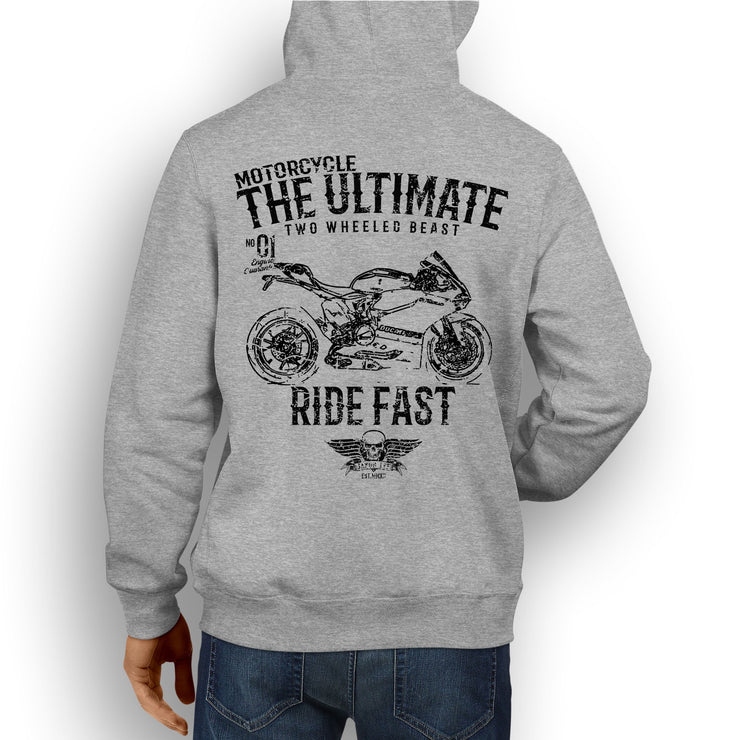 JL Ultimate Illustration For A Ducati 1199 Panigale R Motorbike Fan Hoodie
