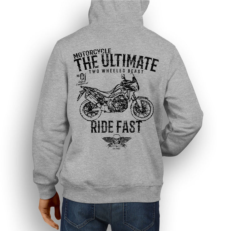 JL Ultimate Illustration For A Honda Africa Twin 2016 Motorbike Fan Hoodie