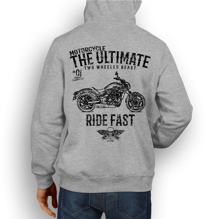 JL Ultimate Illustration For A Kawasaki Vulcan S Motorbike Fan Hoodie
