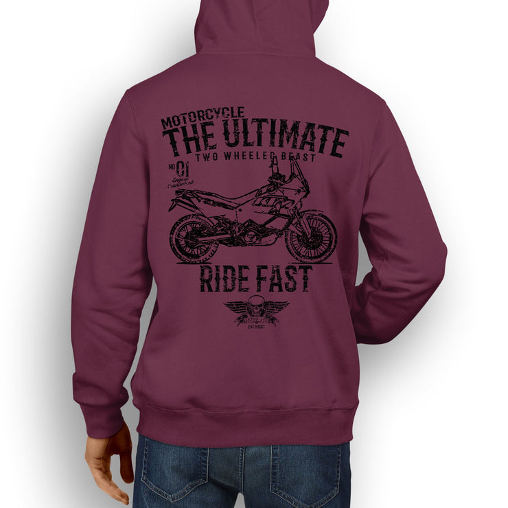 JL Ultimate illustration for a KTM 990 Adventure Motorcycle fan Hoodie