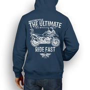 JL Ultimate Illustration For A BMW R1200GS Adventure 2013 Motorbike Fan Hoodie