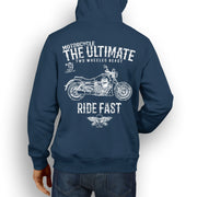 JL Ultimate Illustration For A Moto Guzzi Audace Motorbike Fan Hoodie