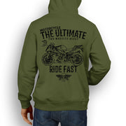JL Ultimate Illustration For A BMW HP4 Motorbike Fan Hoodie