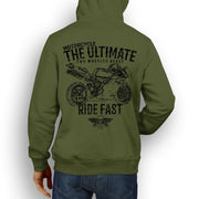 JL Ultimate Illustration For A Ducati 996R Motorbike Fan Hoodie