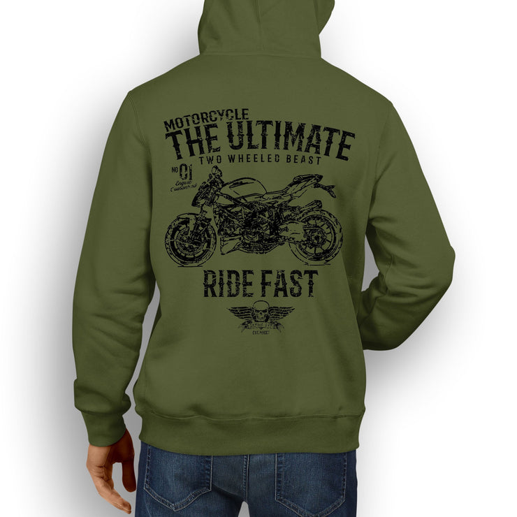JL Ultimate Illustration For A Ducati Streetfighter 848 v2 Motorbike Fan Hoodie