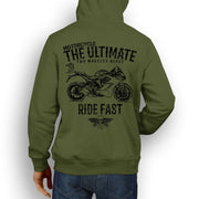 JL Ultimate Illustration For A Ducati SuperSport Motorbike Fan Hoodie