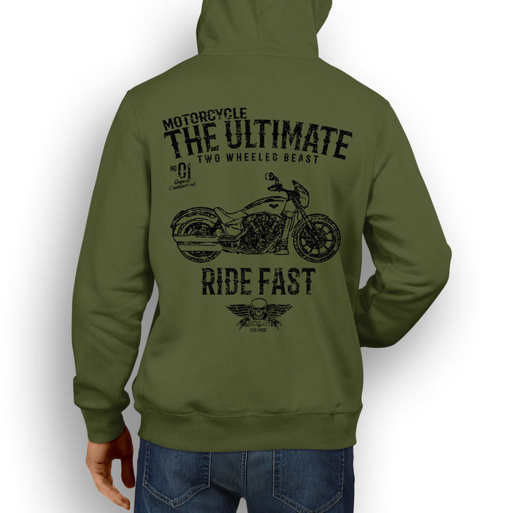 JL Ultimate Illustration For A Victory Octane Motorbike Fan Hoodie