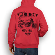 JL Ultimate Illustration For A Ducati Monster 696 Motorbike Fan Hoodie