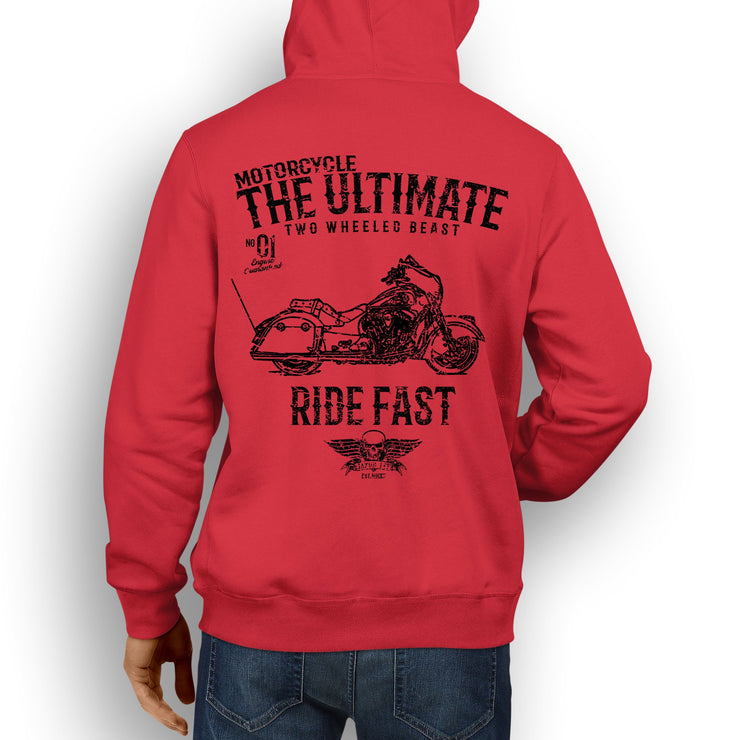 JL Ultimate Illustration For A Indian Chieftain Motorbike Fan Hoodie