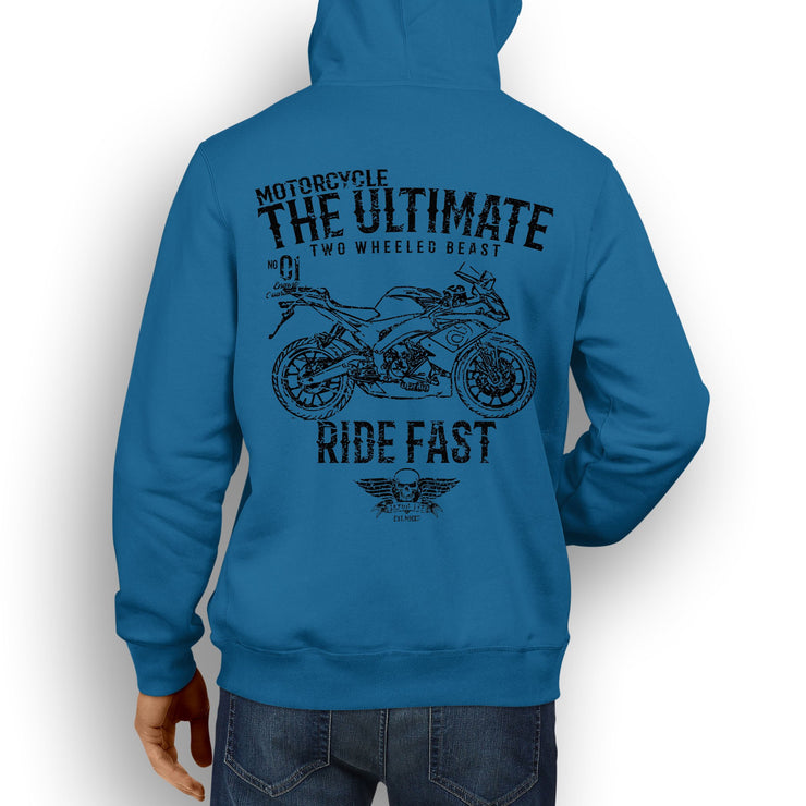 JL Ultimate Illustration for a Aprilia RS125 2017 Motorbike fan Hoodie