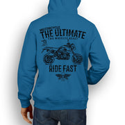 JL Ultimate Illustration For A BMW HP2 Megamoto Motorbike Fan Hoodie