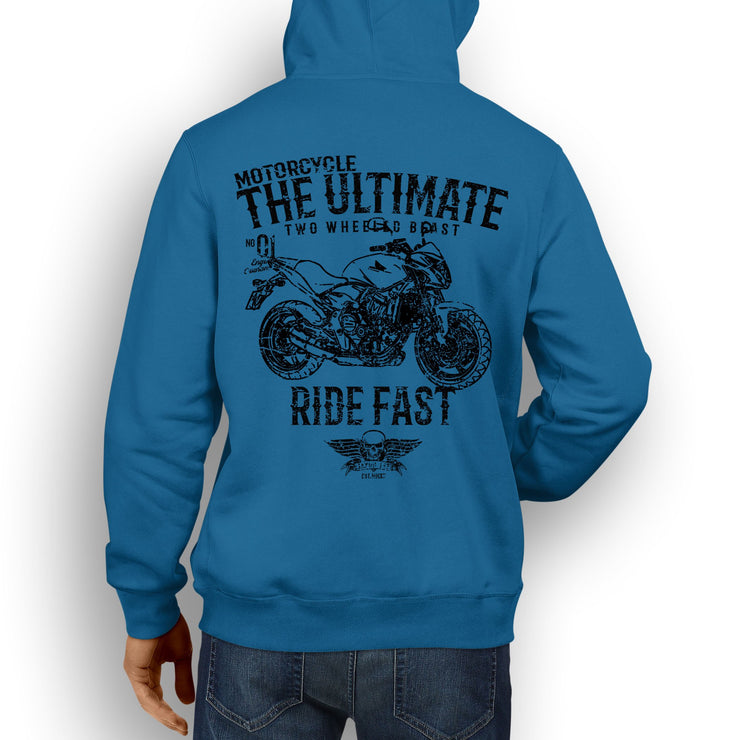 JL Ultimate Illustration For A Honda CB600F Motorbike Fan Hoodie
