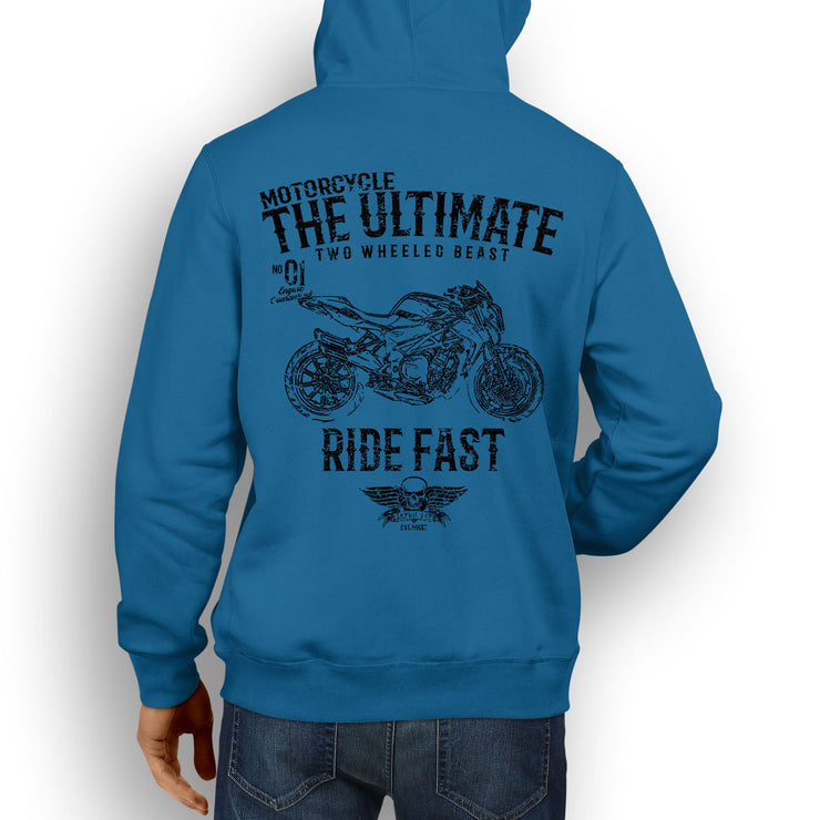 JL Ultimate Illustration For A MV Agusta Brutale 1090R Motorbike Fan Hoodie