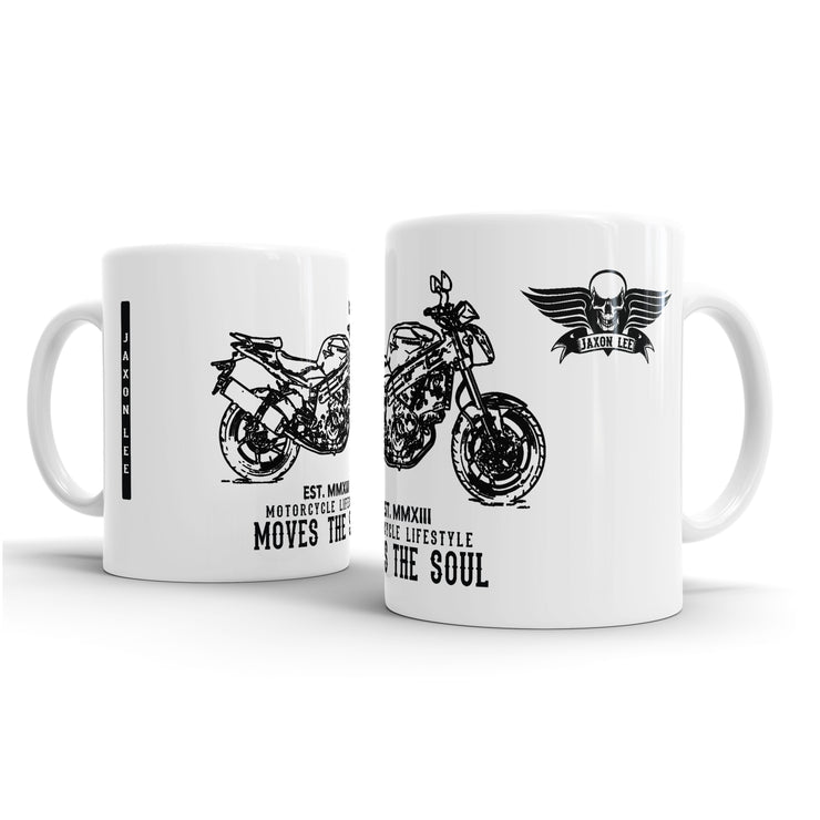 JL Illustration For A Hyosung GT650 Motorbike Fan – Gift Mug