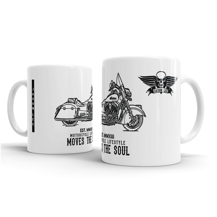 JL Illustration For A Indian Springfield Motorbike Fan – Gift Mug