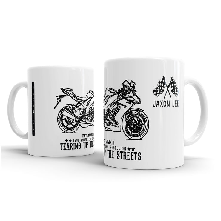 JL Illustration For A Kawasaki ZX10R 2009 Motorbike Fan – Gift Mug